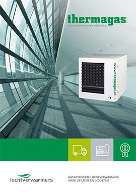 Commerciële brochure Thermagas luchtverwarming en stralingsverwarming